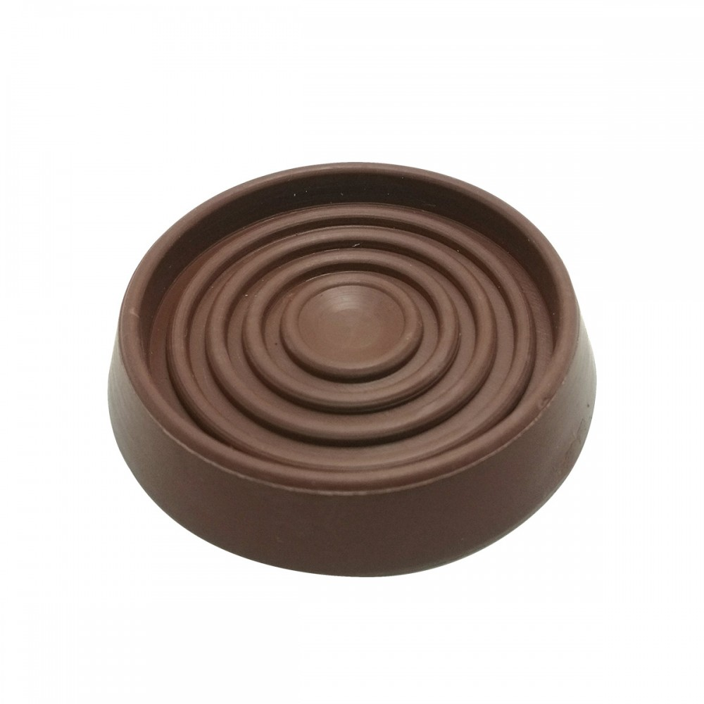 3-inch Diameter,Round Brown Rubber Furniture Cups
