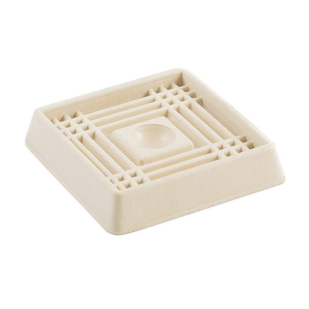 2-inch, White Square Rubber Caster Cups