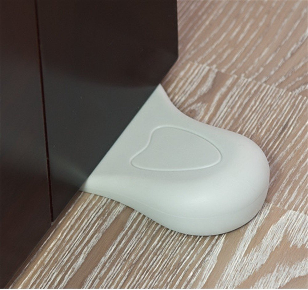 Cute Little Feet Rubber Door Stop Wedge