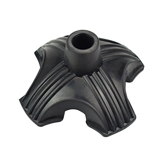 Standing Quad Support Black Rubber Cane Tip (Quad Tip)