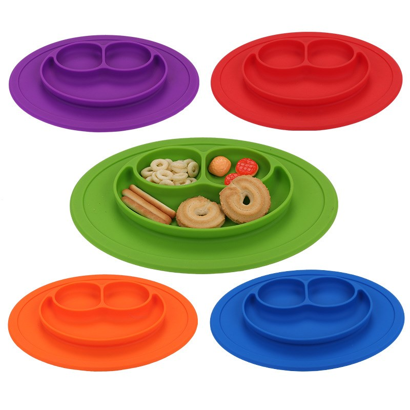 Silicone smiley children's plate