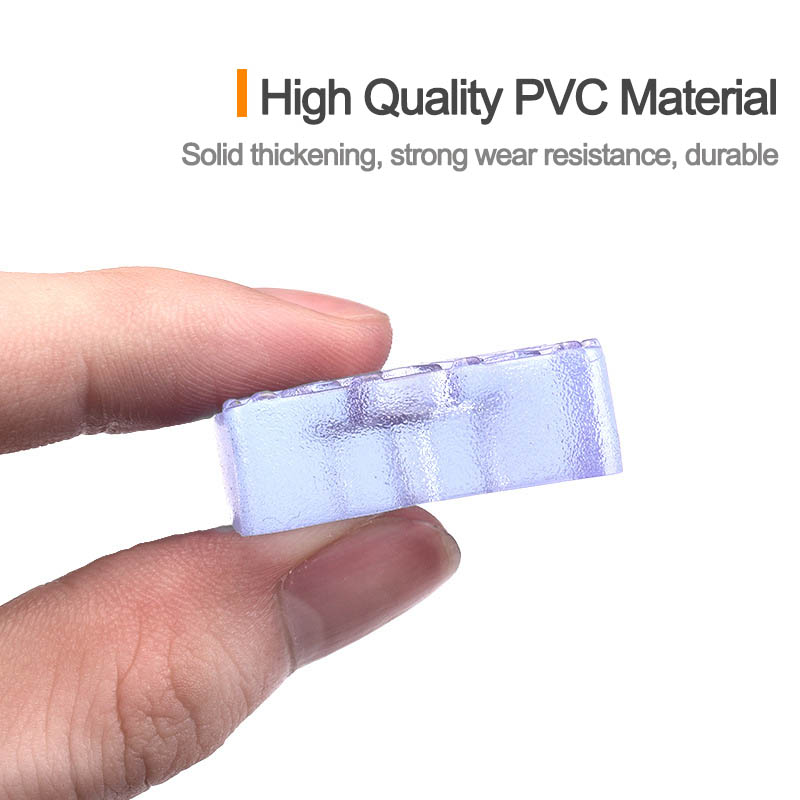 Furniture leg rubber transparent floor pad