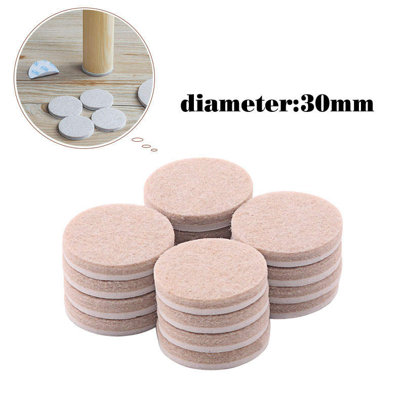 30mm Diameter Round Felt Pads For Wood Floor Protectors