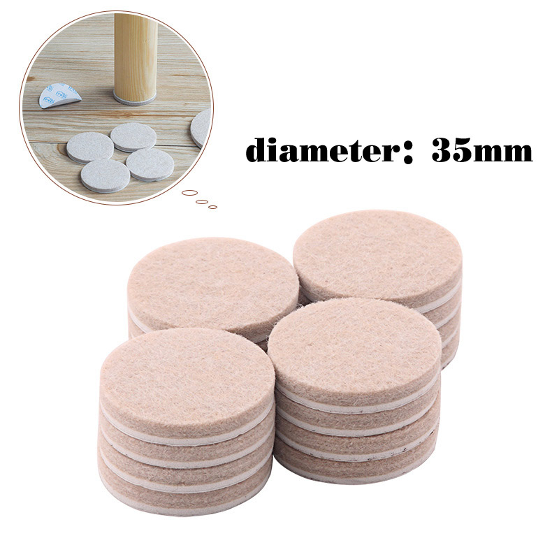 35mm Diameter Round Felt Pads For Wood Floor Protectors