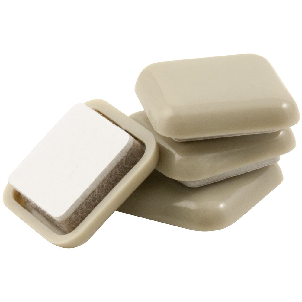 1 Inch Square Self-Stick Furniture Sliders