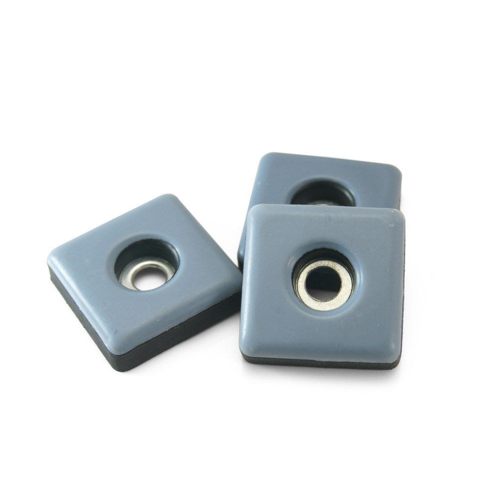 Square PTFE Teflon Screw on Furniture Gliders
