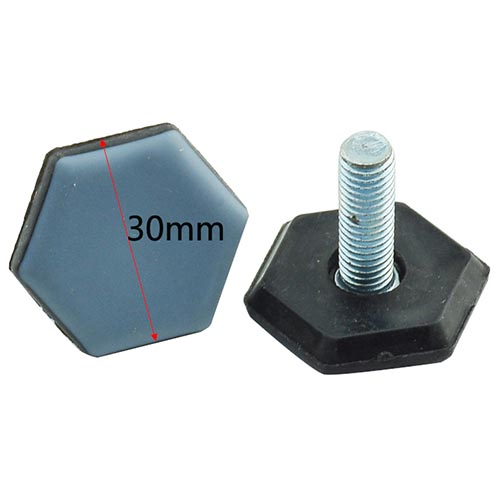 30mm Hexagonal Teflon adjustable foot