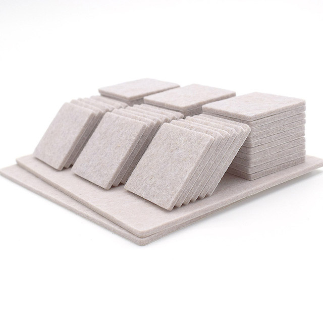 Gray Square 35MM Felt Furniture Pads For Furniture Feet