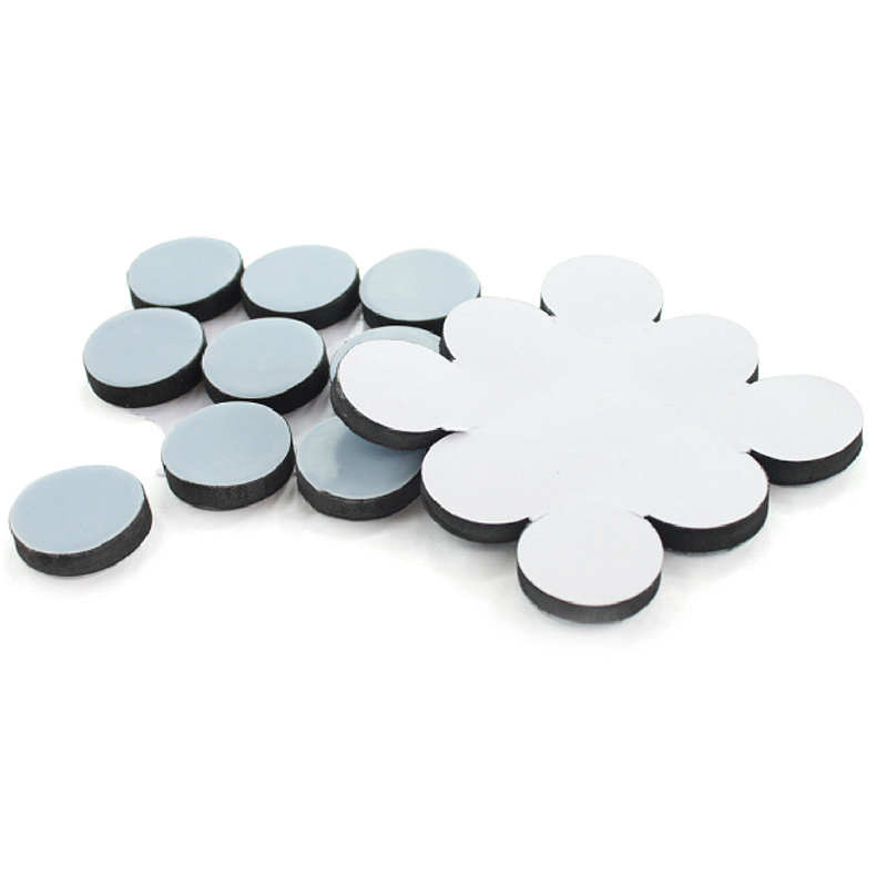 Non-Slip Self Adhesive Furniture Glides Gray Blue Round Furniture Moving Pads