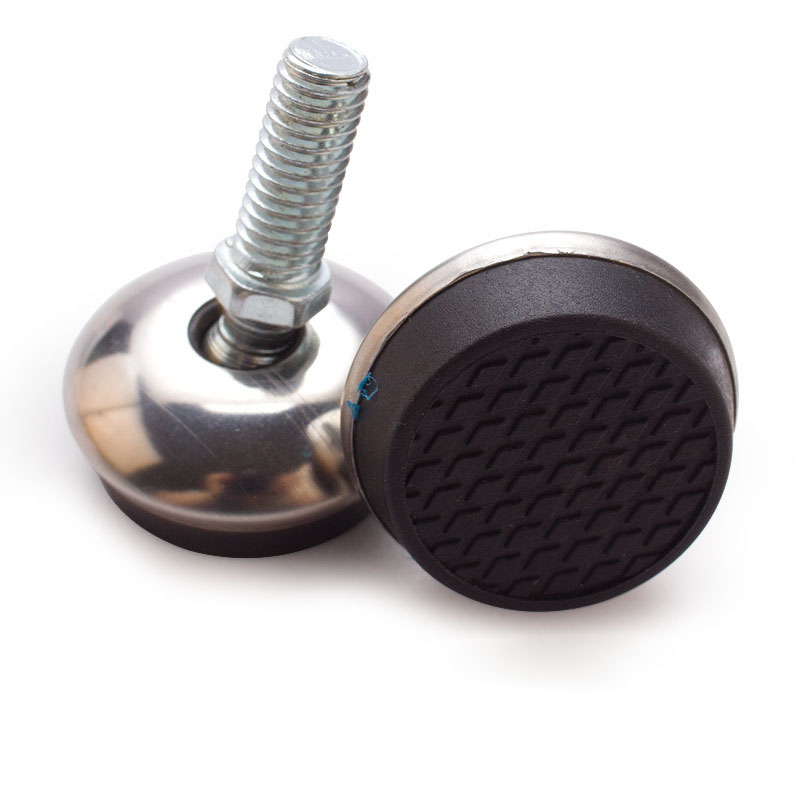 M8X20X32mm Leveling Feet M6 Thread Furniture Chair Table Leveling Feet Floor Protector with T-Nut Pronged