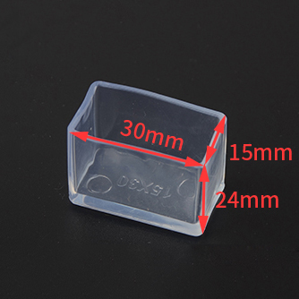 15X30MM Non-Slip Chair Leg Caps Furniture Table Covers Floor Protectors Rubber Square Tips Rectangle